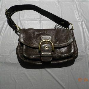 Coach Soft Brown Leather Shoulder Bag